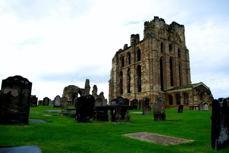 Tynemouth Priory i kasztel obraz royalty free