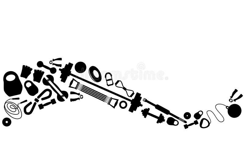 Tyngdlyftningutrustning vektor illustrationer