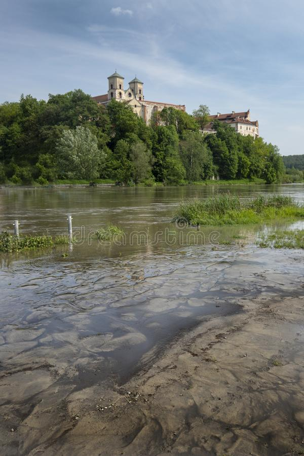 Tyniec kloster i Polen royaltyfri foto
