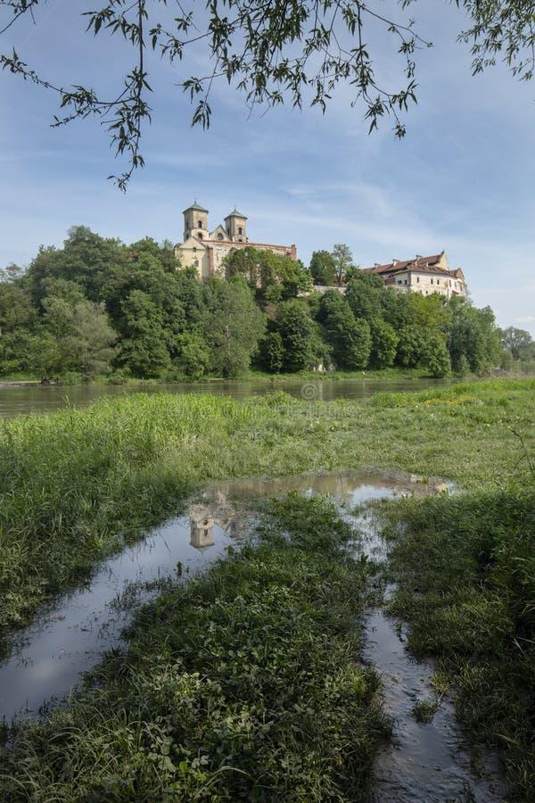 Tyniec kloster i Polen royaltyfria foton