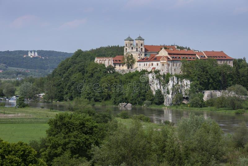 Tyniec kloster i Polen royaltyfri fotografi
