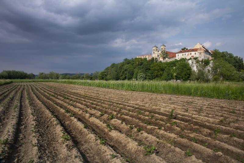Tyniec kloster i Polen arkivfoton