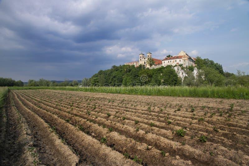 Tyniec kloster i Polen royaltyfri bild