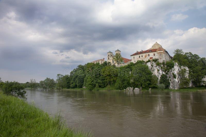 Tyniec kloster i Polen arkivfoto
