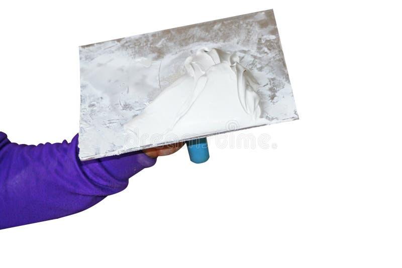 Tynku gips na wyposażeniu zdjęcie royalty free