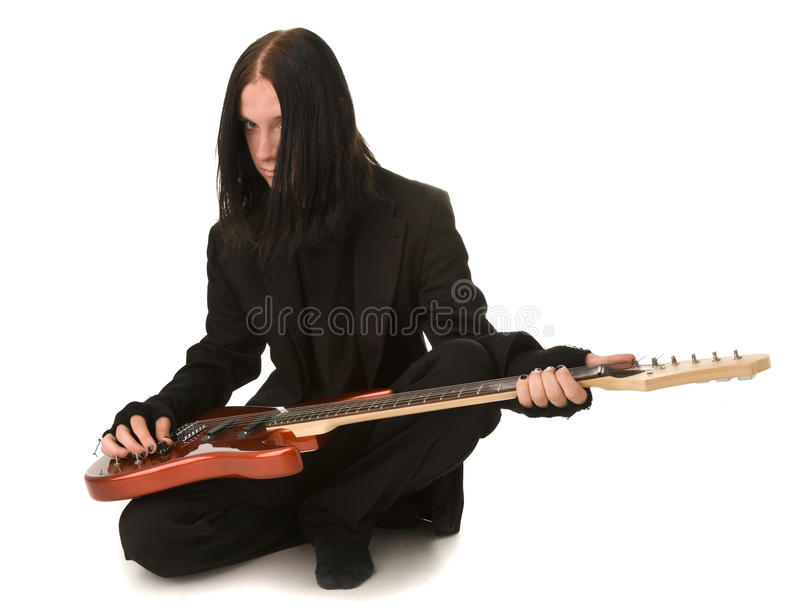 Tyoung gothic man royalty free stock photo