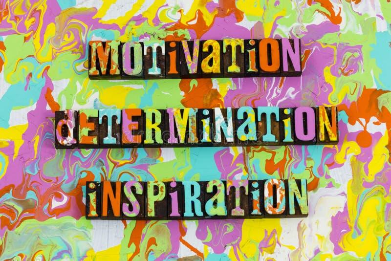Typ för motivationbeslutsamhetinspiration stock illustrationer
