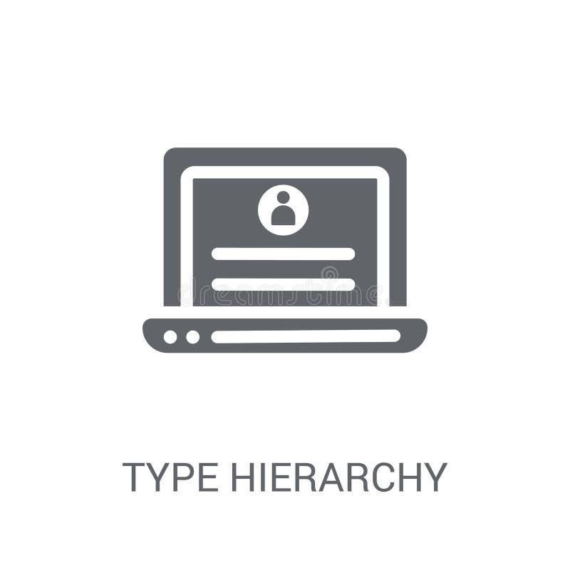 Typ-Hierarchien-Ikone  stock abbildung
