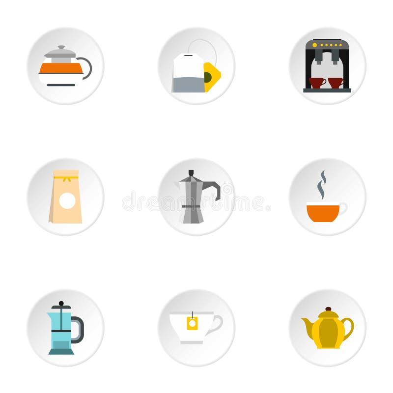 Typ napój ikony ustawiać, mieszkanie styl royalty ilustracja