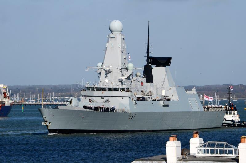 Typ 45 niszczyciel solent, Portsmouth fotografia stock