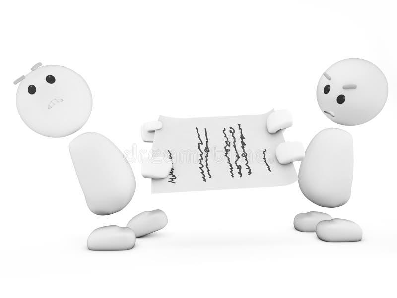 Type 3d mignon en conflit (séries) illustration de vecteur