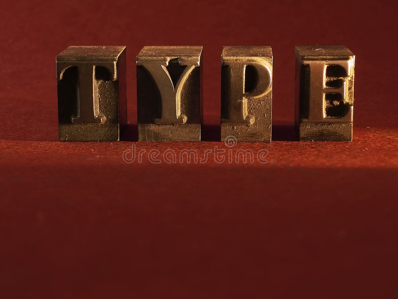 Type royalty-vrije stock foto