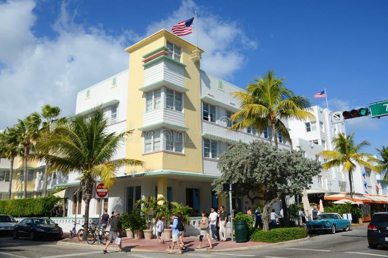 Type Avalon d'art déco dans Miami Beach image libre de droits