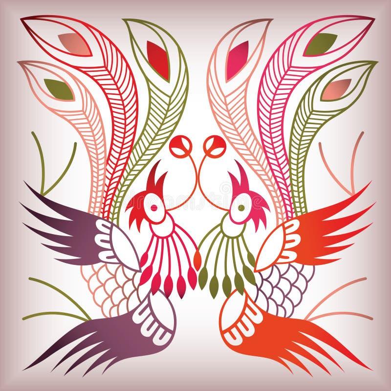 type chinois d'oiseau illustration stock