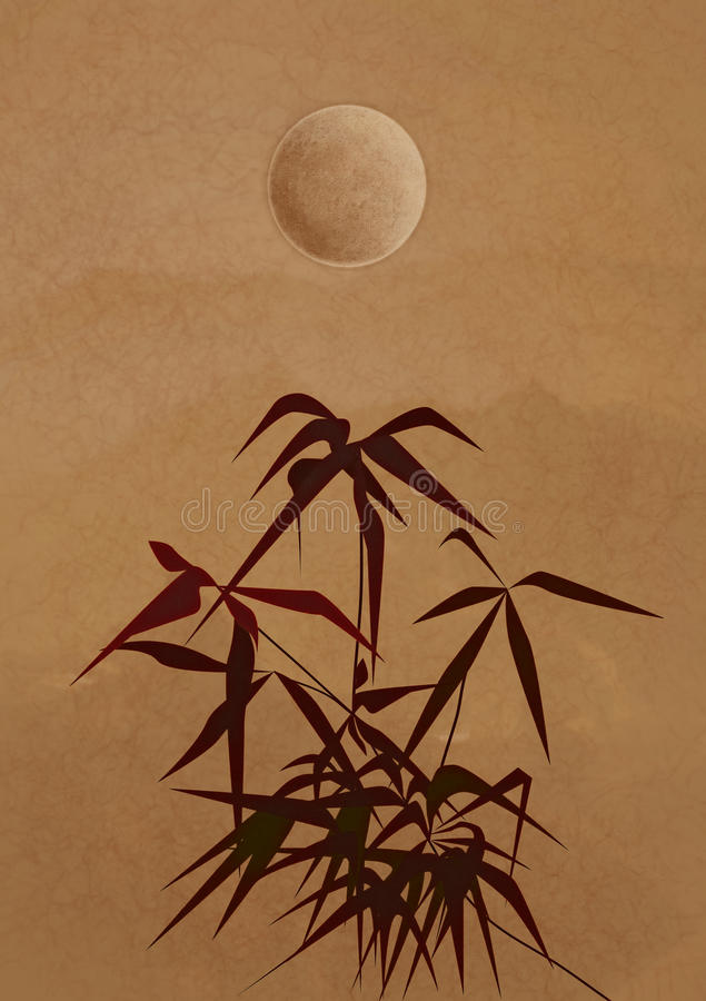 type chinois de branchement en bambou antique photos libres de droits