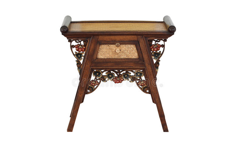 Type chinois de table en bois images libres de droits