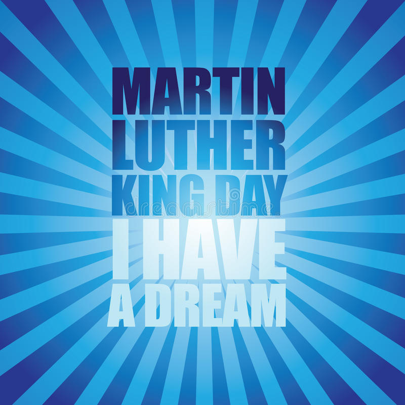 Type conception d'éclat de Martin Luther King Day illustration stock