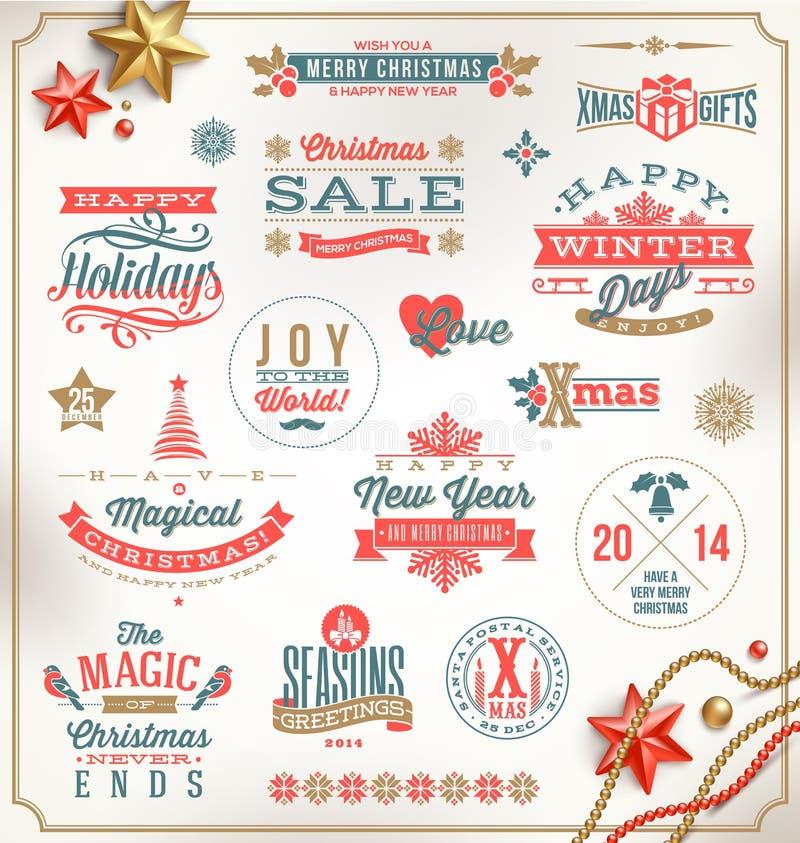 Type conception de Noël illustration libre de droits