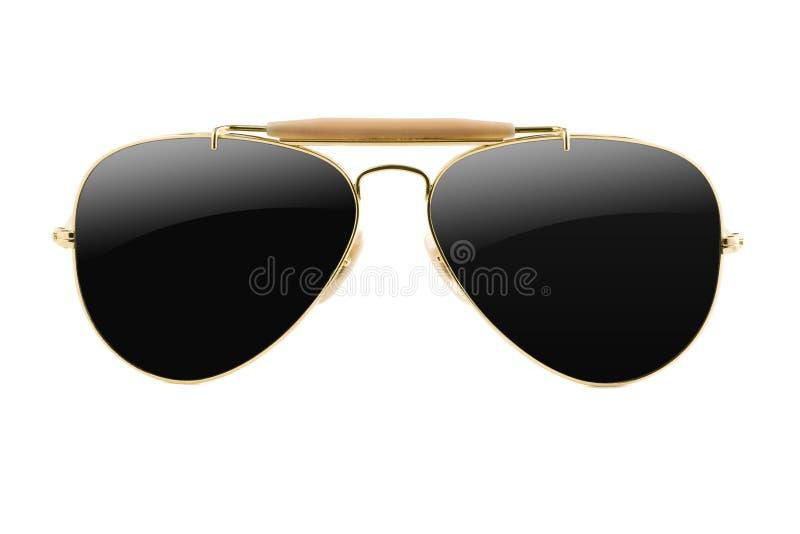 Type d'aviateur de lunettes de soleil d'isolement image libre de droits