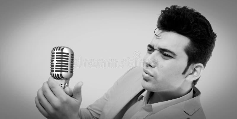 Type d'Elvis Presley photographie stock libre de droits