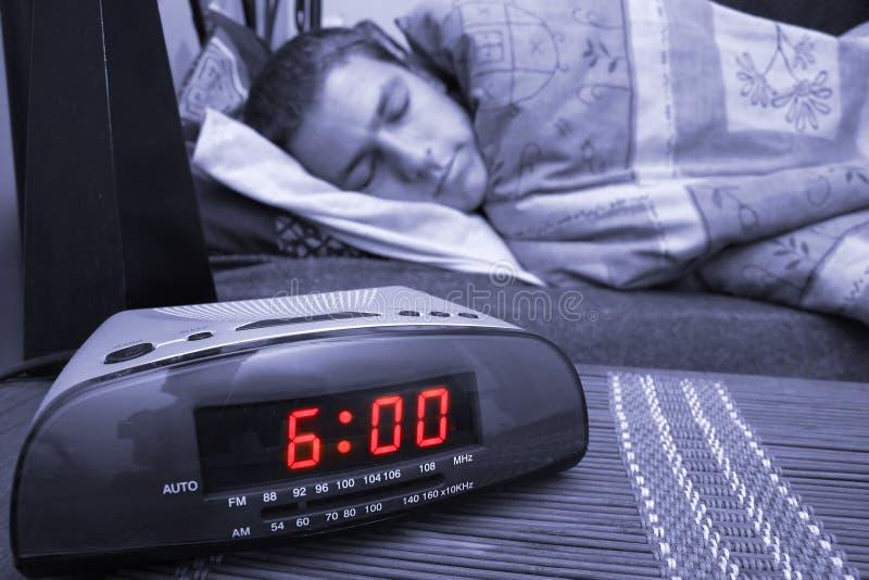 Type d'horloge d'alarme image libre de droits