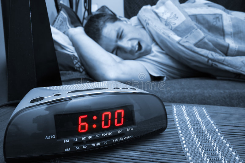 Type d'horloge d'alarme images libres de droits