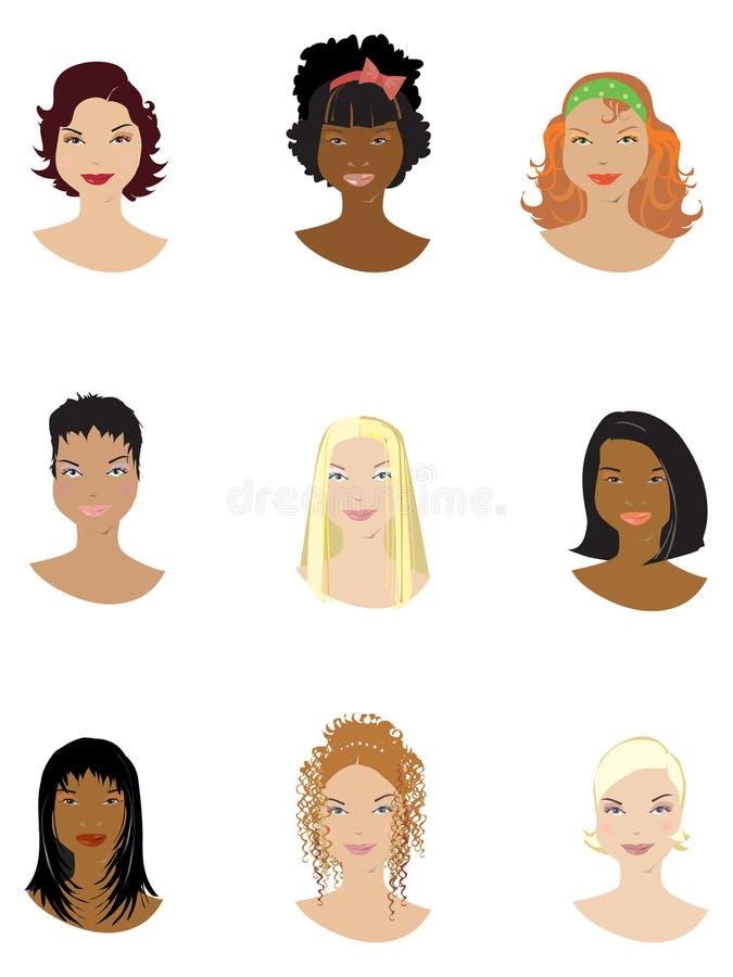 Type de cheveu illustration stock