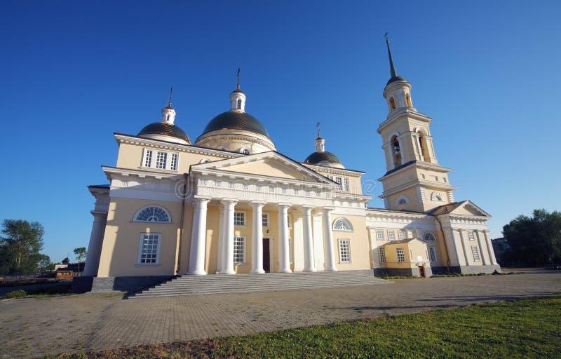 Type de classicism de cathédrale de Nevjansk photo libre de droits