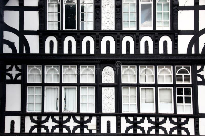Type de Fasade Tudor à Chester, R-U photo libre de droits