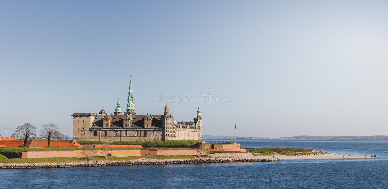 type de kronborg d'image de hdr du Danemark de ch?teau photographie stock libre de droits