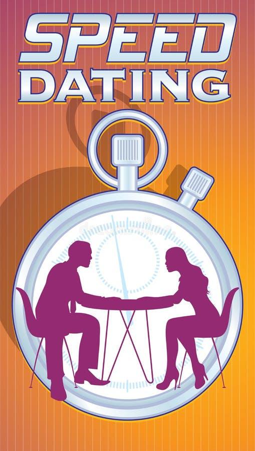 Type de logo de datation de vitesse illustration stock
