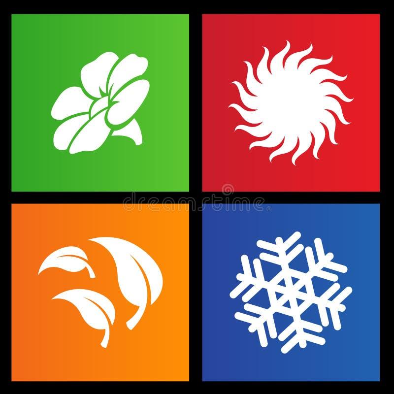 Type de métro quatre graphismes de saisons illustration libre de droits