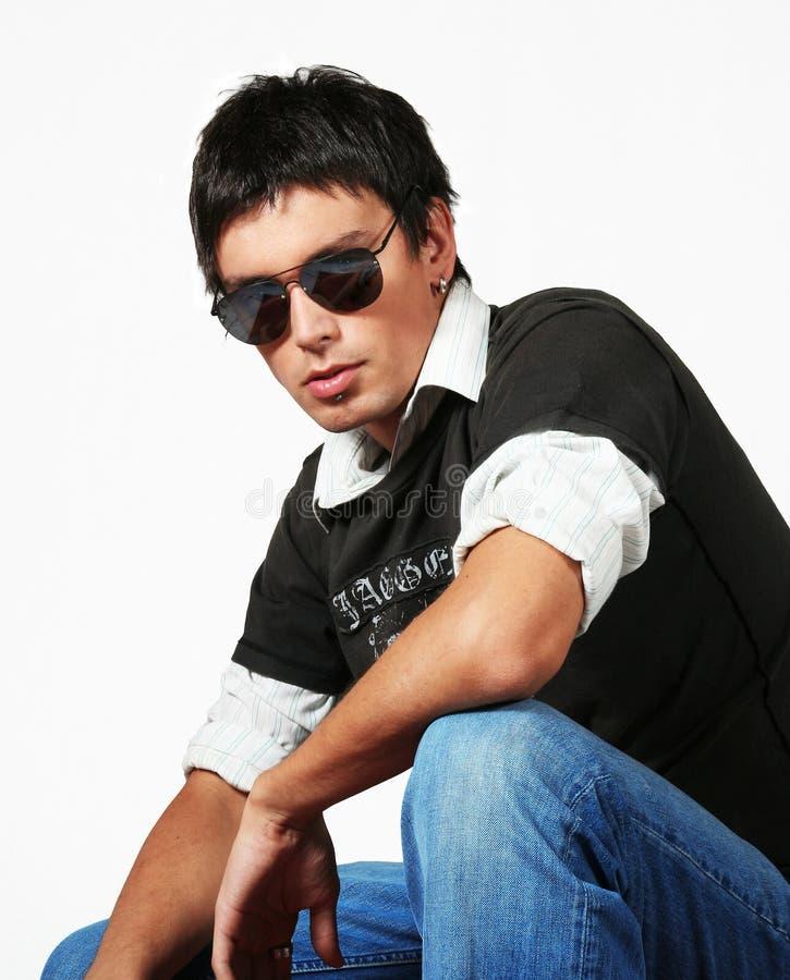 Type de mode de jeune homme photo libre de droits