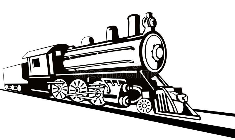 Type de pochoir de locomotive à vapeur illustration libre de droits