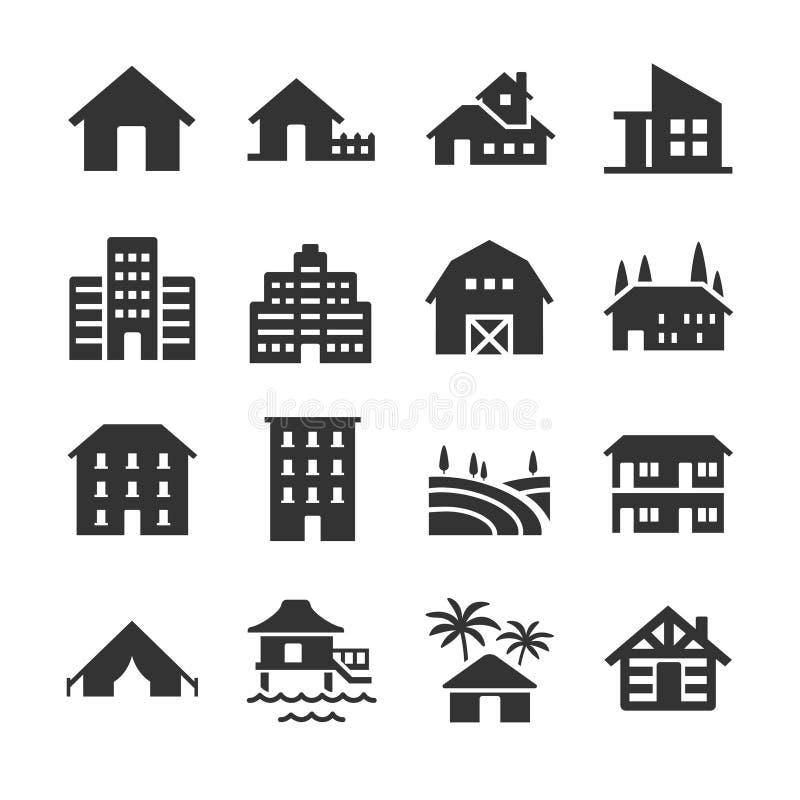 Type de propriété icônes illustration de vecteur