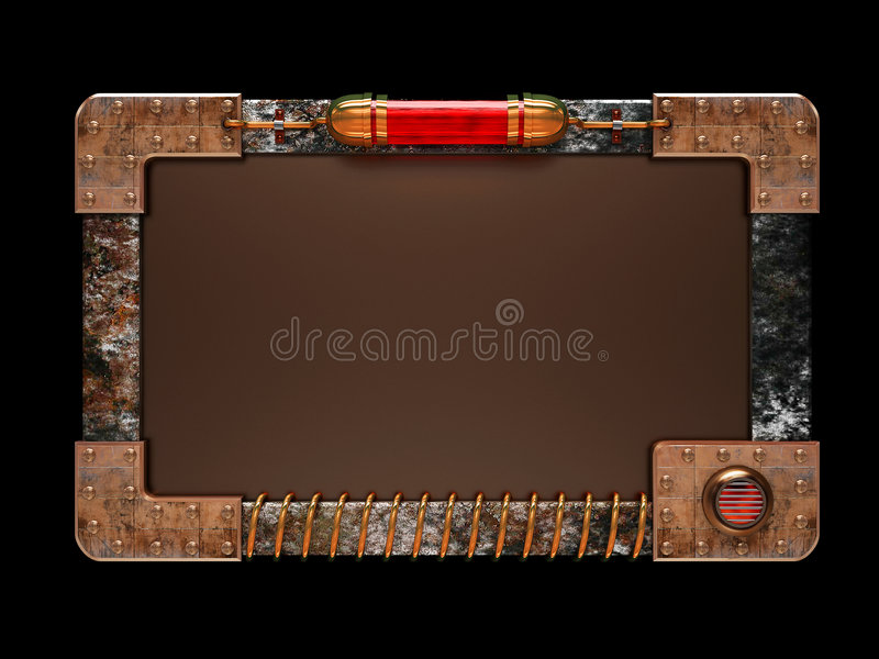 type de steampunk de panneau d'annonce illustration de vecteur