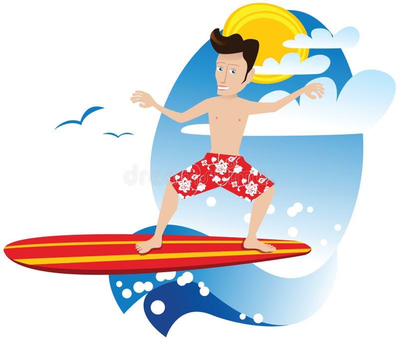 Type de surfer illustration de vecteur