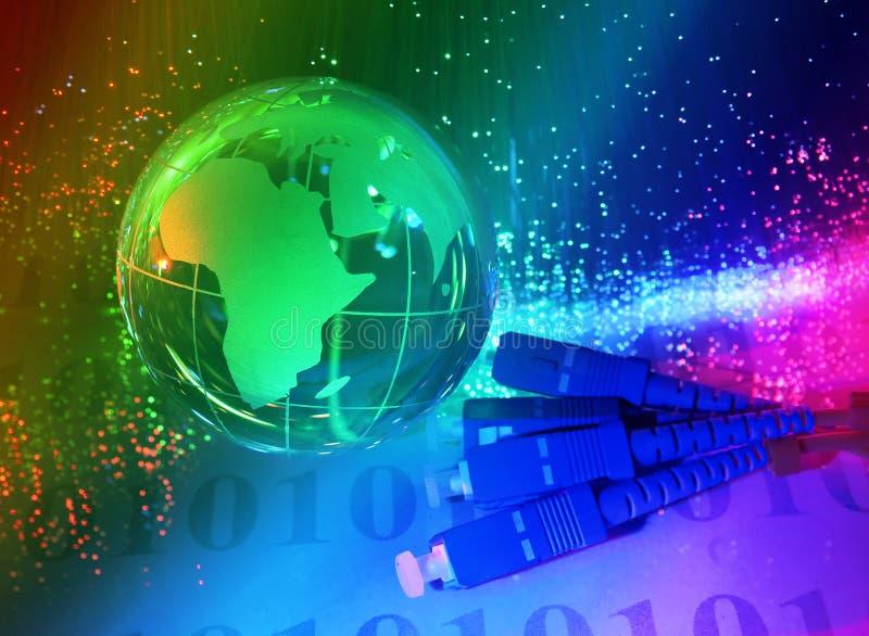 Type de technologie de carte du monde image libre de droits