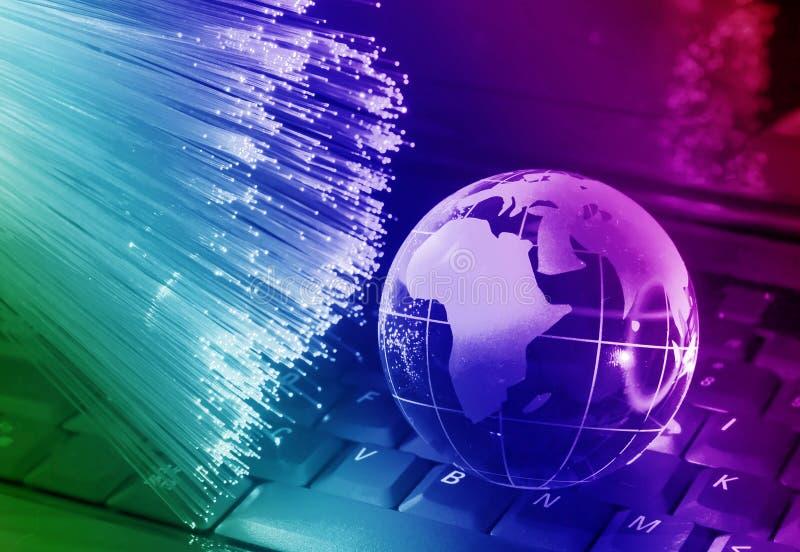 Type de technologie de carte du monde images libres de droits