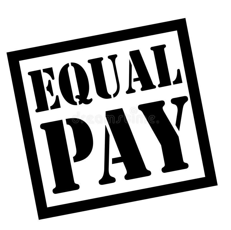 Type de timbre d'égalité de salaires illustration stock