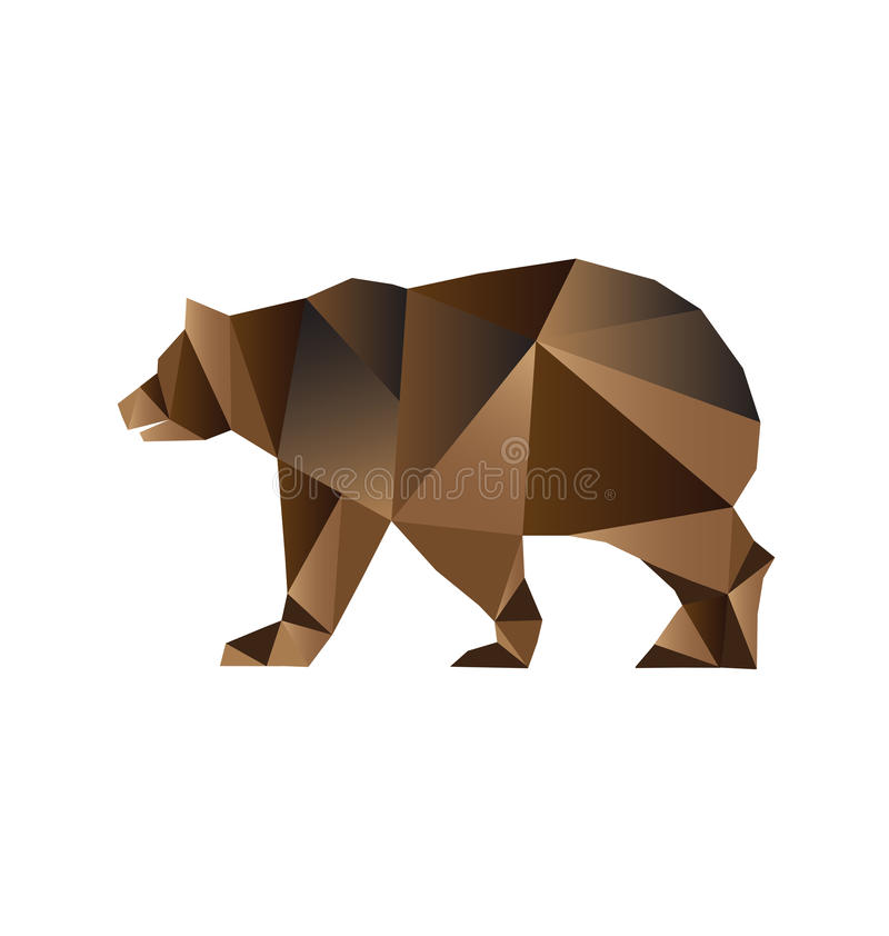 Type de triangles d'ours illustration stock