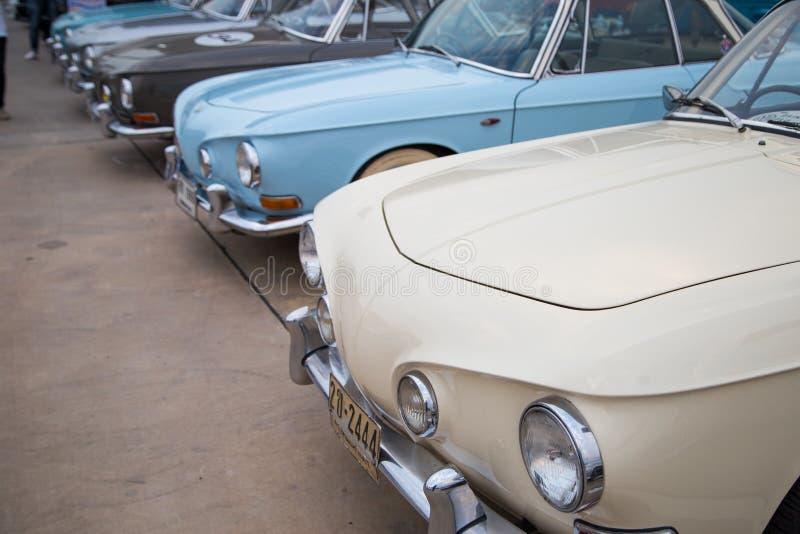 Type de VW Karmann Ghia 34 exposition lors de la réunion de club de VW image stock