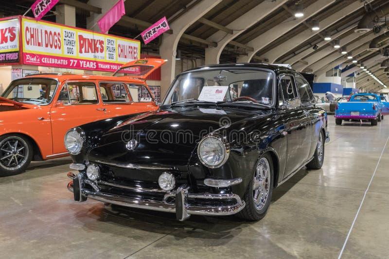 Type de VW 3 Notchback sur l'affichage images libres de droits