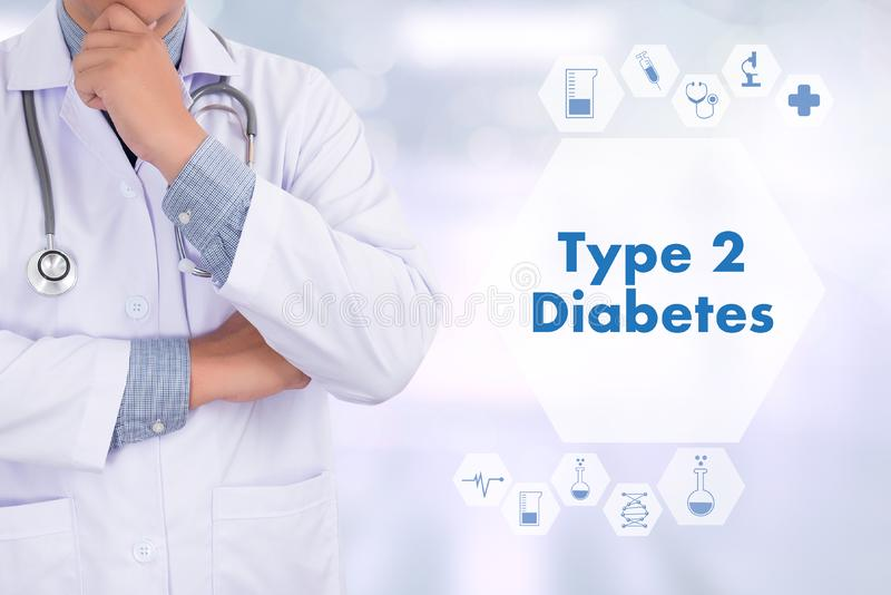 Type 2 diabetes doctor a test disease health medical concept royalty free stock image