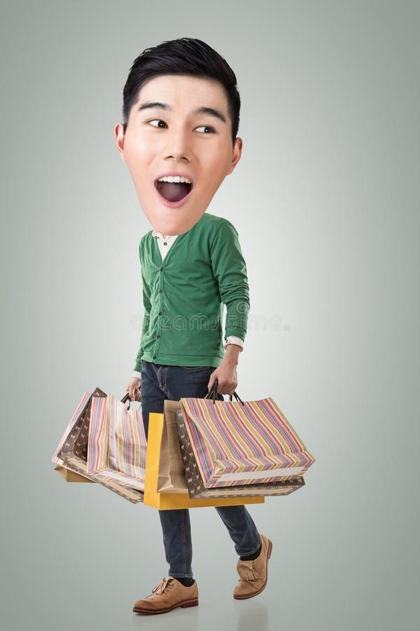 Type drôle d'Asiatique d'achats photos stock