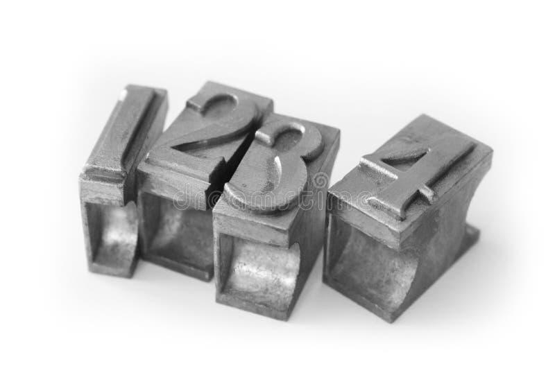 Type en métal (tri en métal de moulage) photos stock