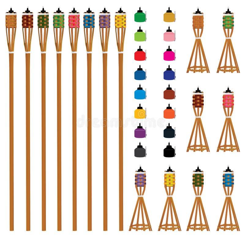 Type ensemble de couleur de Pelita illustration stock