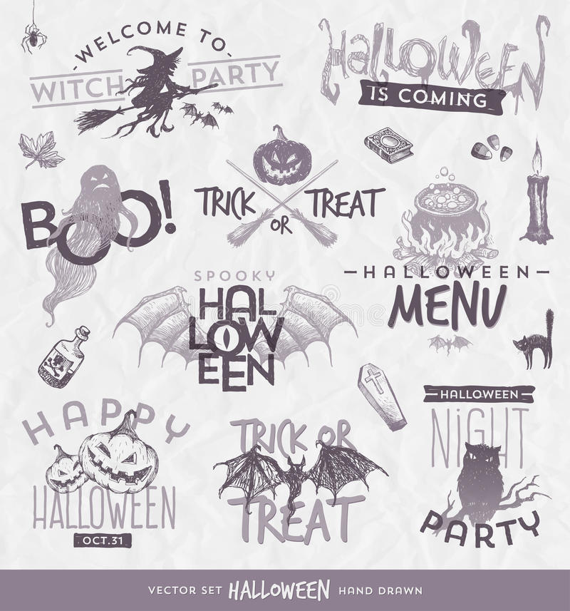 Type ensemble de Halloween de conception illustration libre de droits
