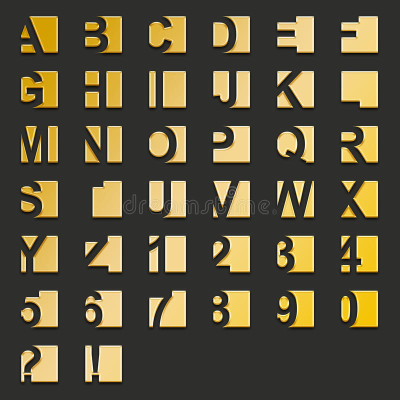 Type-grands dos d'or illustration de vecteur