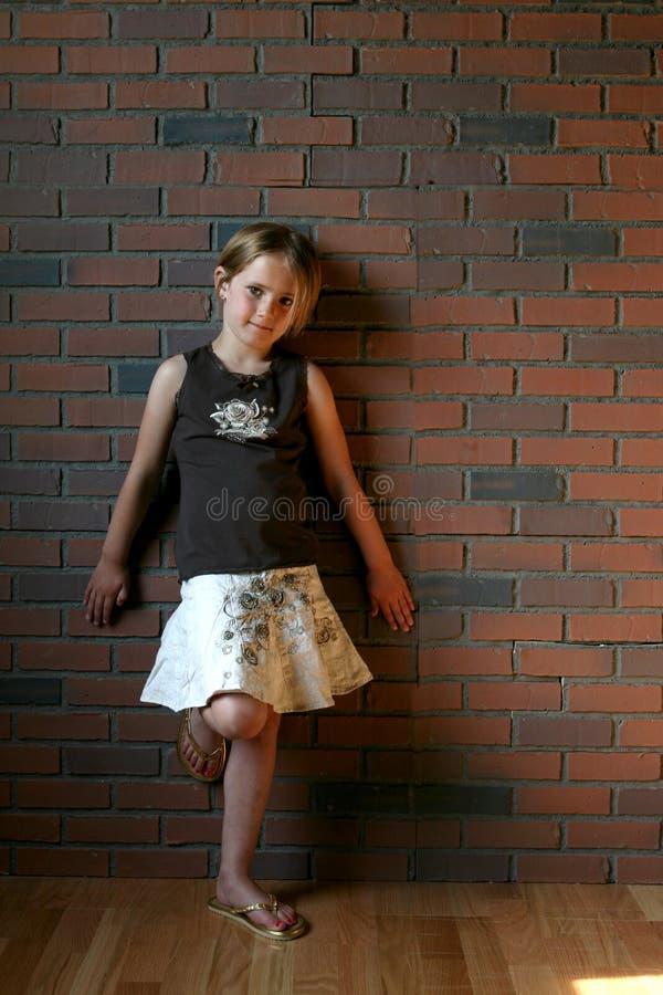 Type grunge photo d'une petite fille photo stock